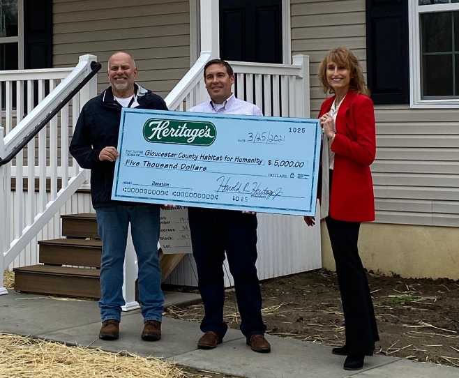 Heritage's Makes Donation to Gloucester County Habitat for Humanity